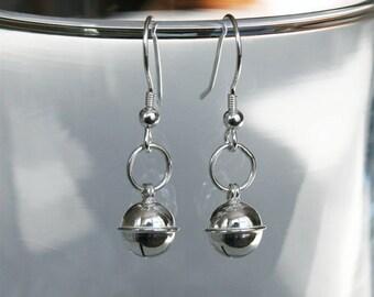 Sterling Silver Jingle Bell Earrings