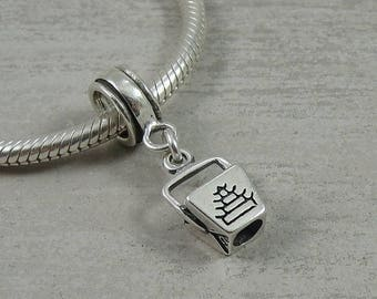 Chinese Takeout Box European Dangle Bead Charm - Sterling Silver Chinese Food Takeout Charm for European Bracelet