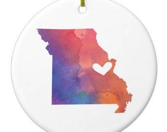Missouri St. Louis Christmas Ornament