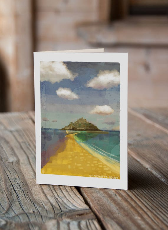 Cornish Coasts - St Michael's Mount Greetings Card
