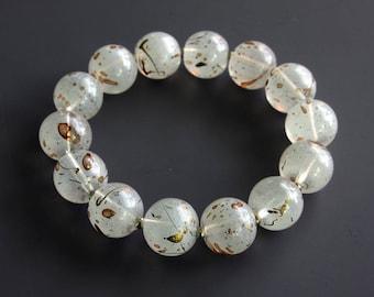 Patterned Stretch Bracelet - Stretch Bracelet - Acrylic Bead Bracelet - Statement Bracelet - Speckled Bead Bracelet - Beaded Bracelet