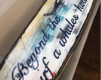 Orginal art. Surfboard wall hanging. Two board special.