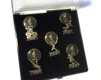 1996 Olympic Pins, Atlanta GA Olympic Pin, Minute Maid Collector Pins, 1996 Atlanta Olympic 5Oth Anniversary Minute Maid Collector Pin Set