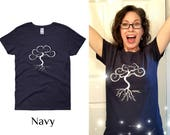 Ladies Novelty T-shirt featuring Sonora Kay Creations Tree of Life  Logo