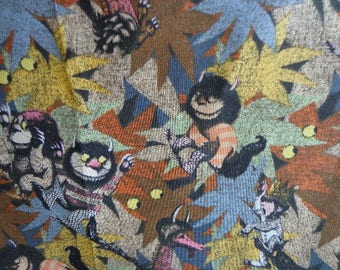 Where the Wild Things Are Fabric Remnant 44 x 22 inches