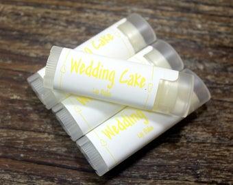 4 Wedding Cake Flavored Handcrafted Lip Balms,Bridal Favors, Wedding Favors Maine Made, Bachelorette Favors,  Lip Care, Maine Lip Balms
