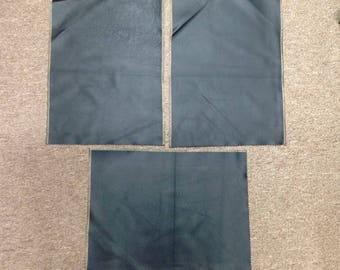 SWAT306.  Package of 3 Black Leather Cowhide Remnants