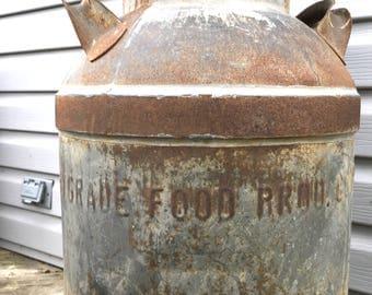 Large Old Hi Grade Milk Can