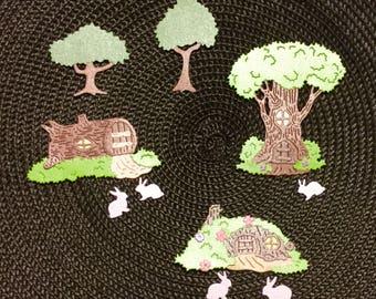 Adorable Woodland Bunnies - Bazzill Bling - 9 pieces