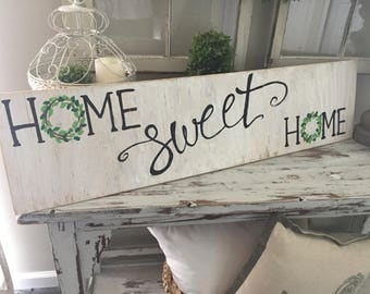 home sweet home sign - home wooden sign - home sign