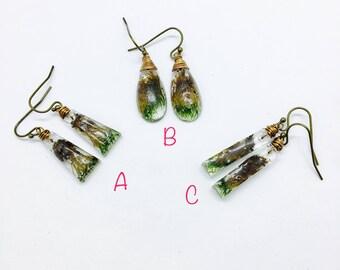 Japanese Moss Earring