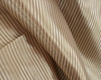 Gold Stripe Sheer Fabric