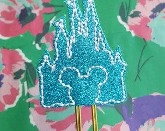 Disney Magic Kingdom glitter Cinderella castle