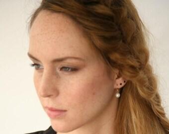 ON SALE, Pearl Earrings, White Pearl Earrings, Pearl Jewelry, Classic Earrings , Pearl Bridal Jewelry, Bridesmaid Earring, Wedding Jewelry