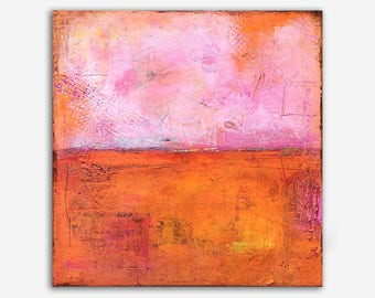Contemporary wall art 20x20 abstract art by Erin Ashley