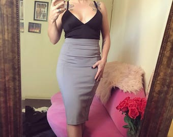 SALE Grey pencil skirt