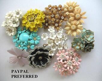 Nice Lot of Destash Jewelry ~ Vintage Flower Earrings