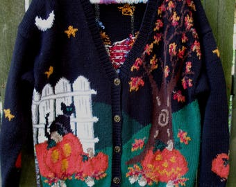 Vintage Ugly Halloween Sweater ~ Tacky
