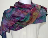Hand dyed Silk Scarf, Gift for Her, Ready to Ship, 64 x 11 inches, Made in Australia by SallyAnnesSilks on Etsy S182