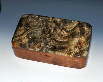 "Wood ""Oyster"" Box - Buckeye Burl on Walnut - Stash Box, Wood Jewelry Box, Treasure Box, Keepsake Box, Wooden Jewelry Box, Jewelry Storage"