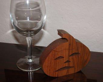 Wooden Pumpkin - Fall Decor - Desk Decor - Halloween Pumpkin