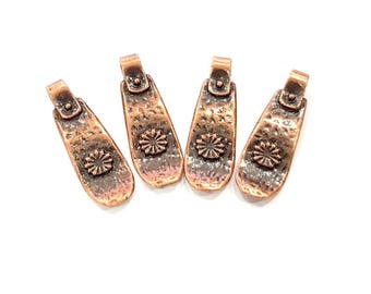 8 Antique Copper Charm Antique Copper Plated Charm (22x9mm) G8840