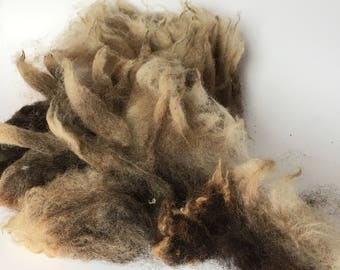 """Raw jacob wool fleece dark lilac from """"Mimi"""" for felting or spinning"""