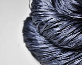 Stormy gray sea  - Hand Dyed  Silk Tape Lace Yarn - SUMMER EDITION - Hand Dyed Yarn - handgefärbte Wolle - DyeForYarn