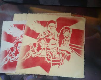 SALE Ghostbusters 2016 back patch denim vest patches new movie art street art spray paint original stencil