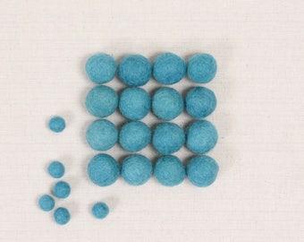 Felt Balls // Raincloud Blue // Felt Pom, Felt Flower Supplies, Felt Beads, Felt Supplies, Blue Pom Poms, Felt Embellishments, Kids Crafts