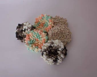 Bath Scrubbie, Bubble Scrubbie, Spa Puff, Kitchen Scrubbie, Pot Scrubber, Facial Puff, Crocheted Scrubbie