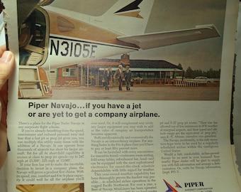 1968 PIPER AIRCRAFT Piper Navajo Corporate Jet Ad.