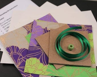 DIY BOOKMAKING KIT : Flower Fold, Star Fold, Instructions, Tutorial, Ready to Ship