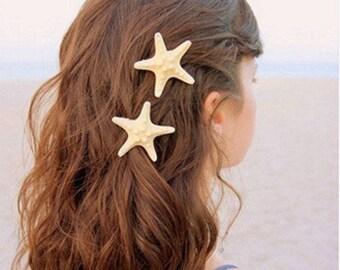 Starfish Mermaid Hair Clips set of 2