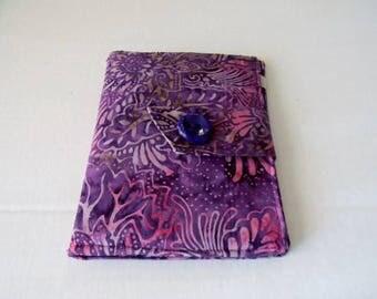 Purple Floral Batik Kindle Touch/ Kindle/ Nook Simple Touch/Paperwhite  Cover