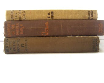 three antique books for boys