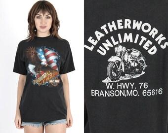 3D Emblem T Shirt Harley T Shirt Harley Davidson T Shirt 3d Harley Shirt Vintage Motorcycle T Shirt Biker Shirt Follow the Eagle T Shirt