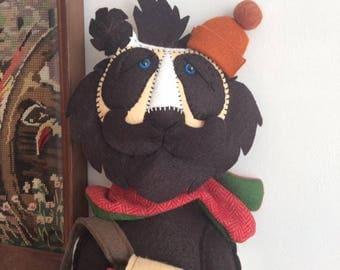 Personalised Hiker Panda Bear Handmade Art Doll walking folk home decoration