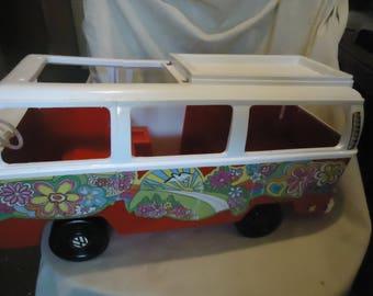 Vintage 1976 Vintage Volkwagen Camper Plastic VW Van Barbie Skipper Tammy Toy Hippie Van,  collectable