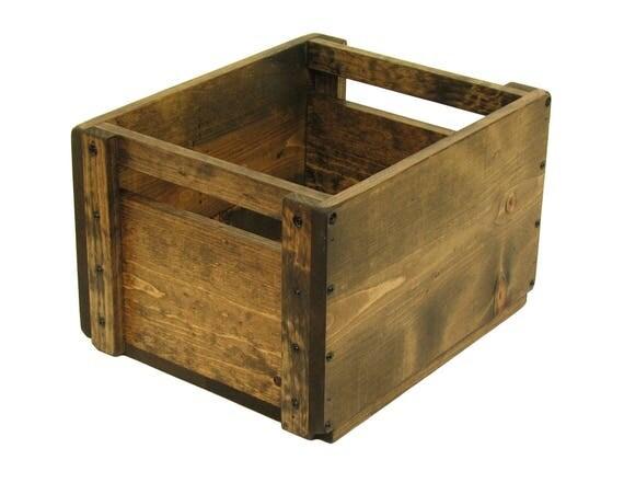 Wooden Crate, Wood Box, Solid Wood Bin, Wooden Tote, Keepsake Box, Memory Box, Wedding Card Box, Hope Chest, Toy Box, Wooden Storage Box