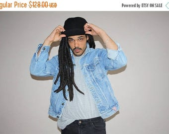 On SALE 45% Off - George Marciano for Guess Vintage 80s Light Wash Denim Jean Jacket - 1980s Guess  - 80s Clothing - MV0088