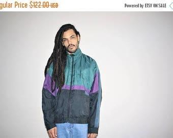 On SALE 45% Off - pic 3465 - 1990s Vintage Designer Pierre Cardin Silk Hip Hop Colorblock Windbreaker - 90s Clothing - MV0169