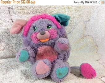 20% SALE Pretty Bit Popples Plush Stuffed Animal Purple Matted 1985 Kids Toys Popple