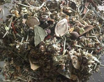 Samhain Herbs Blend Hallows Eve Day of Dead Halloween Dumb Supper Witch New Years Wicca Pagan Spirituality Religion Sabbat MaidenMotherCrone