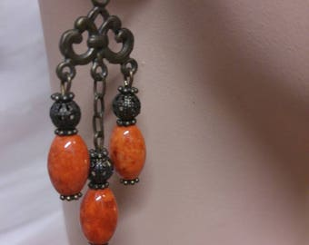 Natural  Coral Earrings