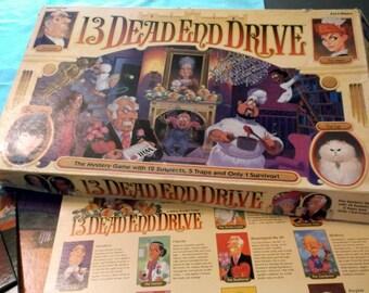 13 Dead End Drive vintage 1993  Milton Bradley Game family game night house family fun game ready to play