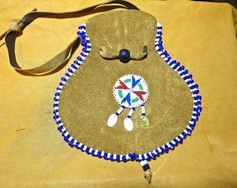 Embellished Handbag with Antique Trade Bead