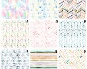 ORGANIC Crib bedding, watercolor crib sheet, organic crib sheet, stokke sheets, halo, unisex sheet,4Moms playard sheet, Uppababy Bassinet,