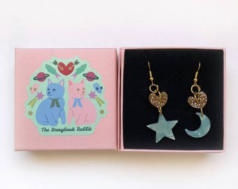 Hook Dangles - Hearts, Stars and  Mint Moons