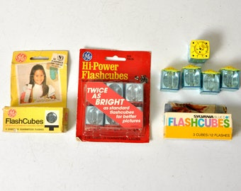 Vintage Camera FlashCubes Packs and Loose Flash Cubes